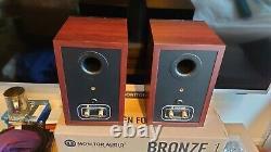Monitor Audio Bronze 1 Bookshelf Speakers in Rosemah