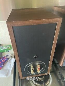 Monitor Audio Bronze BX2 Stereo HiFI Speakers Walnut Main Bookshelf/stand