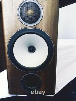 Monitor Audio Bronze BX2 stereo speakers on dedicated Spiked Stands