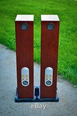 Monitor Audio RS8 Stereo FLOORSTANDING Speakers Rosenut + ORIG. PACK. VGC