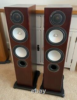 Monitor Audio RX6 Main / Stereo Speakers Walnut Veneer Excellent Condition