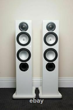 Monitor Audio RX6 Silver Stereo Speakers White High Gloss