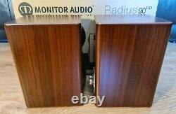 Monitor Audio Radius 90HD Stereo HiFi Bookshelf / Surround Speakers Walnut