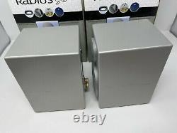 Monitor Audio Radius 90 Bookshelf Speakers Silver Stereo Boxed