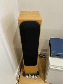 Monitor Audio Silver RS6 in Natural Oak. Pair Of Left And Right Speakers