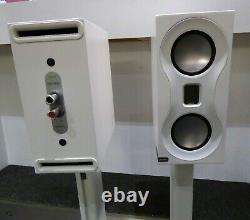 Monitor Audio Studio Loudspeakers White + Monitor Stands