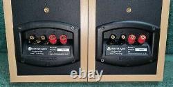 Monitor audio Bronze B1stereo Bookshelf Bi-Wireable Speakers light oak finish