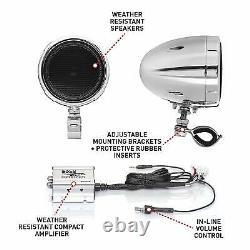 Motorcycle Stereo Speaker Bluetooth Audio System Amplifier WATERPROOF SPEAKERS