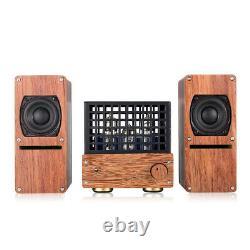 Nobsound Mini 6N6 Vacuum Tube Amplifier+Wooden Speaker Class AB Stereo Audio Amp