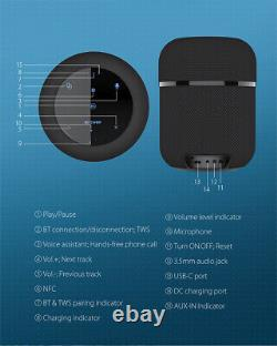 Original BlitzWolf BW-AS3 70W 12000mAh Wireless Speaker with 360°Stereo Sound