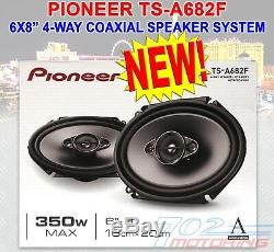 PIONEER TS-A682F 350 W MAX 6X8 4-WAY 4-Ohm STEREO CAR AUDIO COAXIAL SPEAKERS