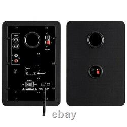 Pair 60W Computer Speakers Powered Active with Bluetooth Stereo Audio Desktop PC