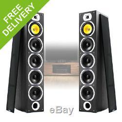 Pair of Floor Standing HiFi Speakers Tower Columns Home Stereo Audio 600w