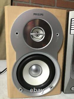 Philips MCM530 5 Disc CD Changer Micro Stereo System With Speakers TESTED