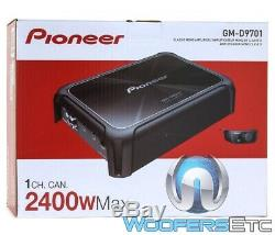Pioneer Gm-d9701 Amp 1 Ch Bass 2400w Subwoofers Speakers Car Stereo Amplifier