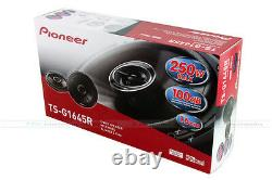 Pioneer Ts-g1645r 6-1/2 250w Max 2-way Coaxial Car Audio Stereo Speakers 6.5