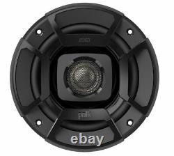 Polk Audio DB402 4 135W 2 Way Car/Marine ATV Stereo Speakers Black (4 Pack)