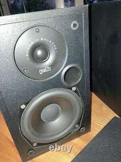 Polk Audio R10 R-10 Hifi stereo Bookshelf Speakers Audiophile BLACK VGC UK SELL