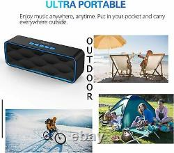 Portable Wireless Bluetooth Speaker with Loud HD Audio and MegaBass Stereo Radio