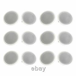 Pyle 8 500W 2 Way In Wall/Ceiling Home Speakers System Audio Stereo, 12 Pack