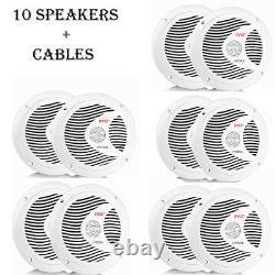Pyle Dual 6.5'' Waterproof Marine Speakers, Full Range Stereo Sound, 150 Watt