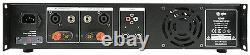 QTX Q240 Stereo Power Amplifier 240W Speaker Sound System DJ Disco 2 x 120W