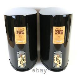 QUAD Z-2 stereo speakers in gloss black boxed ideal audio
