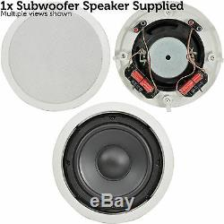 QUALITY 2.1 Ceiling/Roof Stereo Speaker System 320W Home Cinema Hi-Fi Subwoofer