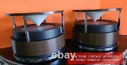 Rare MCM Zenith Circle of Sound Stereo Omni-Directional Speakers Mint Vtg Retro