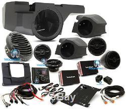 Rockford Fosgate Rzr-stage4 600w Stereo Amp Speakers Kit Razor Motorsports Audio