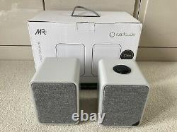 Ruark Audio MR1 MK2 Active Bluetooth Stereo Speakers Soft Grey Barely Used
