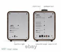 Ruark Audio MR1 MK2 Bluetooth Stereo Desktop Speakers (Rich Walnut) New
