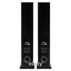 SHF80 Floorstanding Hi-Fi Speakers for Home Stereo Sound System 3-Way 6.5 Black