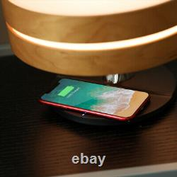 Smart LED Wireless Charging Desk Lamp Stereo Sound Speaker With Digital Clock