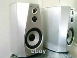 Sony SS-HA1 Hi-Res Audio Stereo Bookshelf Speaker System Silver