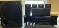 Sony STR-K750P Home Stereo Surround Sound Receiver/Speakers SA-WMSP75 Subwoofer