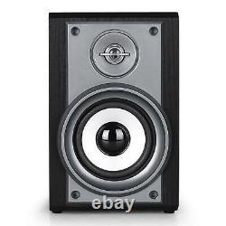 Stereo Speakers Hi fi System Turntable CD Player FM Radio USB Home Audio Black