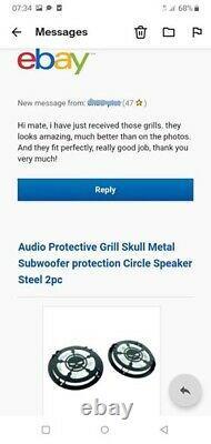Stormtrooper Raised Metal Grill 2pcs Speaker Protect Guard Car Audio Stereo SUB