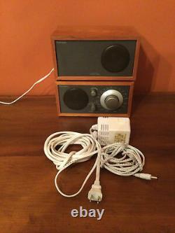 Tivoli Audio Model Two AM/FM Aux. Stereo Table Radio Extra Speaker Henry Kloss