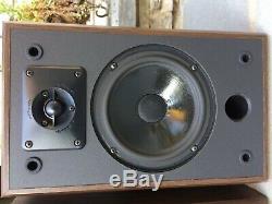 Vintage Polk Audio USA Made Monitor 4 Series II/2 Wood Grain Stereo Speakers