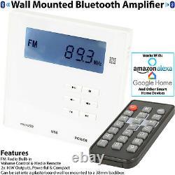 Wall Mounted Micro Bluetooth Amplifier Stereo HiFi Bathroom/Kitchen Music Kit