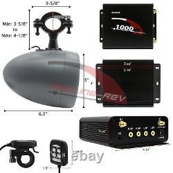 Waterproof Bluetooth UTV Stereo 4 Speakers Audio Radio System RZR CanAM Polaris