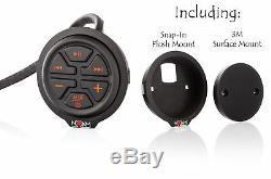 Waterproof Marine Atv Rzr Utv Speakers Audio Bluetooth Stereo System offroad mp3