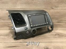 06 11 Honda CIVIC Oem Stereo Navigation Gps Affichage De Carte Écran Moniteur Tête