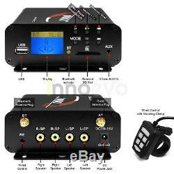 1000w Amp Bluetooth Étanche Atv Utv Rzr Polaris Stereo 4 Système Audio Haut-parleur