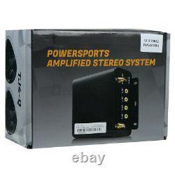1000w Amp Moto Bluetooth 4 Haut-parleurs Audio Système Stéréo Usb Fm Pour Vtt Utv