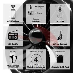1000w Amp Moto Stéréo Bluetooth Étanche 4 Haut-parleurs Audio Mp3 Système Atv