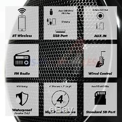 1000w Amplificateur Bluetooth Stéréo Moto 4 Haut-parleurs Audio Mp3 Système Radio Fm