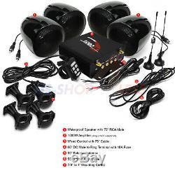 1000w Amplificateur Bluetooth Stéréo Moto 4 Haut-parleurs Audio Système Amp Radio Fm