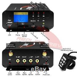 1000w Bluetooth Étanche Atv Utv Rzr Polaris Quad Haut-parleurs Stéréo Système Audio